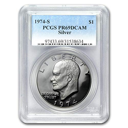 1974 S Silver Eisenhower Ike Dollar $1 PR69DCAM PCGS