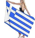 Strandtuch Strandtücher,Griechische Flagge,Schnelltrocknend Mikrofaser Badetuch Handtuch Strand für Pool,Picknicks,Camping 80x130cm
