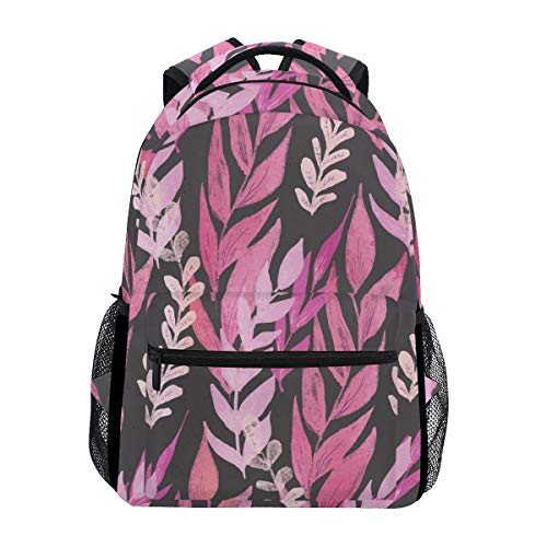Mr.Lucien Colorful Branches and Leaves Vine Pattern Casual Daypacks Business Backpack Watercolor Plant Painting Multipurpose Daypacks Laptop Backpack for Men Women 2020211