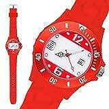 anartikel Silikon Armbanduhr Gummi Trend Watch Quarz Fan Uhr mit Fussball Weltmeisterschaft WM & EM Europameisterschaft