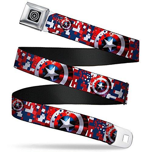 Buckle-Down Seatbelt Belt Captain America XL