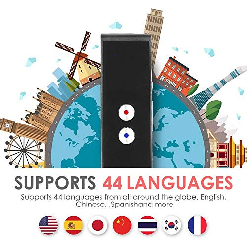 Smart Language Translator Device, Real Time Two Way Voice Translator Support 44 Languages Chinese English French Japanese Spanish Russian for Learning Business Travel Meeting (Black) Photo #7