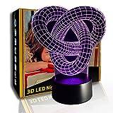 KangYD Abstraktes Muster der 3D-Lampe, LED-Nachtlicht, kreative Schreibtischlampe, E - Alarm Clock...