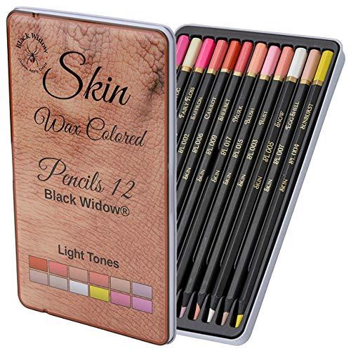 Leichte Hautfarbe Farbstifte | Portrait-Set | Farbstift für Erwachsene | Skintone Künstler-Bleistifte