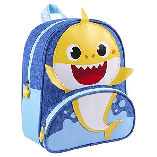 CERDÁ LIFE'S LITTLE MOMENTS, Zaino Baby Shark Asilo-Licenza Ufficiale Nickelodeon Bambino, Blu, Especialmente recomendada para niños de 2-6 anni
