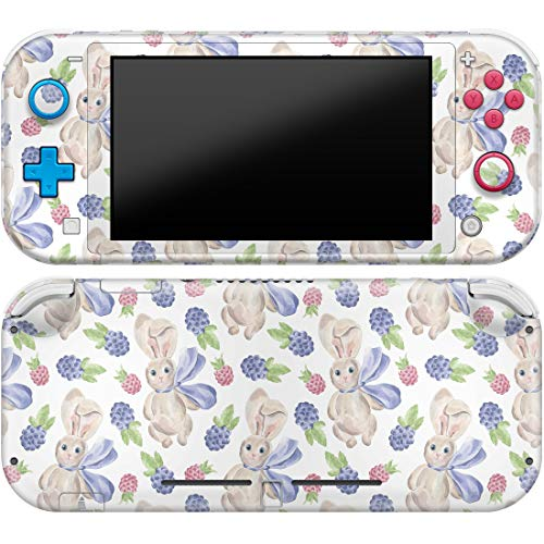 Cavka Vinyl Decal Skin Compatible with Console Switch Lite (2019) Stickers with Design Berry Bunny Fruits Pattern Cute Cover Durable Wrap Full Set Animals Protector Print Scarf Faceplate Watercolor