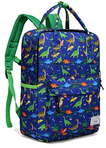 Backpack for Boys,Kasqo Kids Backpack Personalized Preschool Backpack for Kindergarten Children Lightweight Daypack with Chest Strap in Dinosaur