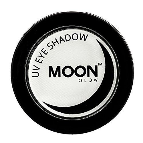 Moon Glow – Ombre à paupières néon UV 3.5g Blanc qui produisent un effet fluo incroyable sous la lumière ultraviolette ou noire !