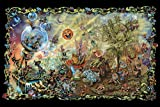 Dream Combo Gnome Fantasy 36x24 Art Print Poster Wall Decor marijuana harvesting run happy colorful