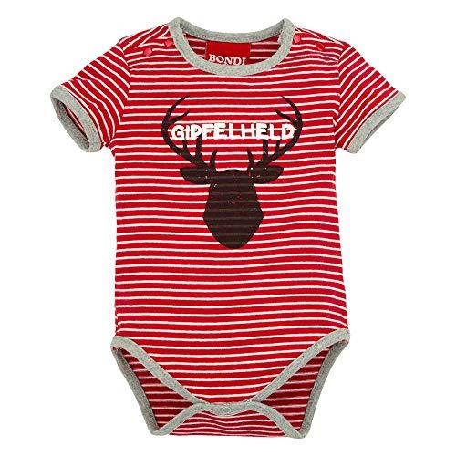 BONDI Body Geringelt ´Hirsch´, Stripe red/White 62 Tracht Baby Jungs Artikel-Nr.91128