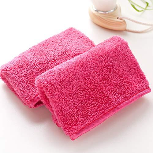 Toalla mágica para quitar el maquillaje, 18 x 40 cm, microfibra sin químicos, para quitar el maquillaje, limpieza facial, portátil, reutilizable y sensible