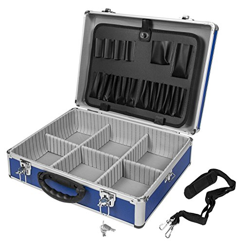 Varo Aluminium-Werkzeugkoffer, Mehrzweck-Koffer, blau