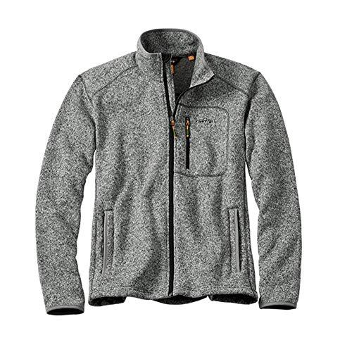Orvis Men's Full-Zip Sweater Fleece Jacket, Gray Heather, Xx Large