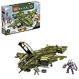 Coffret de construction grand vaisseau Pelican CSNU inspiré du jeu Halo Infinite avec ailes articulées, cockpit ouvrant, équipement d'atterrissage fonctionnel et une ouverture secrète qui révèle la partie intérieure cachée du vaisseau Jouet à assembl...