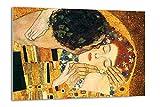 Tangerine wall | cuadro de el beso de gustav klimt (fragmento) | tamaño: 30x40cm | sticky para apoyar o colgar sin agujeros | especial para decoración de salón