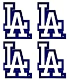 Set of 4 LA Dodgers Team Logo Stickers Four Individual Official Major League Baseball Helmet Emblems MLB Los Angeles