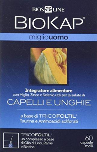 Bios Line 66375 Biokap Miglio Uomo Tricofoltil, 60 Capsule