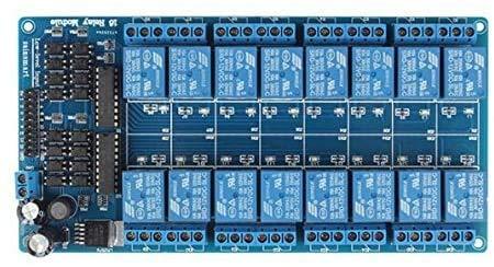 ICQUANZX Modulo relè 16 canali DC 5V per Arduino Raspberry Pi DSP AVR PIC ARM (16 Chanel)