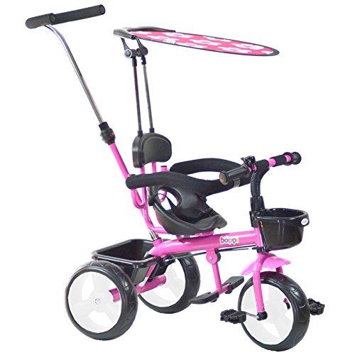 boppi® Triciclo 4 en 1 para niños de 9 a 36 Meses - Rosa