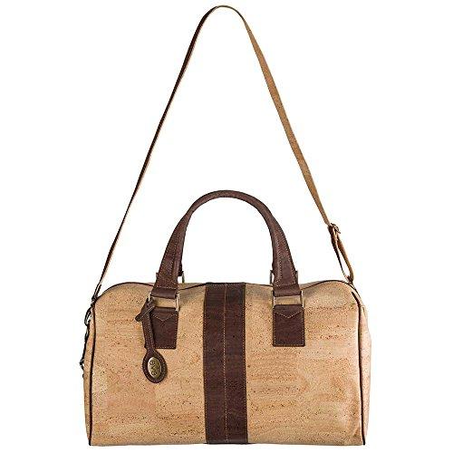 Eve Cork Preston Weekender Travel Duffel Bag, Lightweight, Water Repellant, PETA Approved, Sustainable and Vegan
