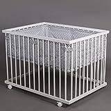 Laufgitter Babylaufgitter Laufstall 100x75cm Komplettset Babylaufstall 3-fach höhenverstellbar WEISS 46500 Star & Wave