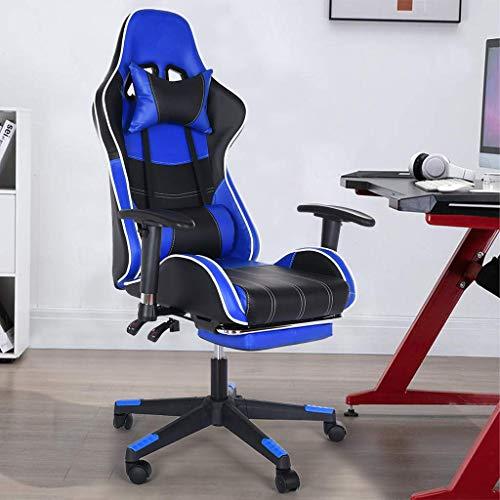 Gtracing Chair Gaming, silla para juegos con respaldo ajustable, silla de oficina de cuero reclinable con reposapiés, cómoda silla para computadora, silla de videojuegos para oficina en casa, restaur