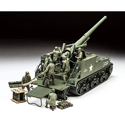 タミヤ 1/35 ミリタリーミニチュアシリーズ No.351 アメリカ 陸軍 155mm M40 自走砲 ビッグショット プラモ...