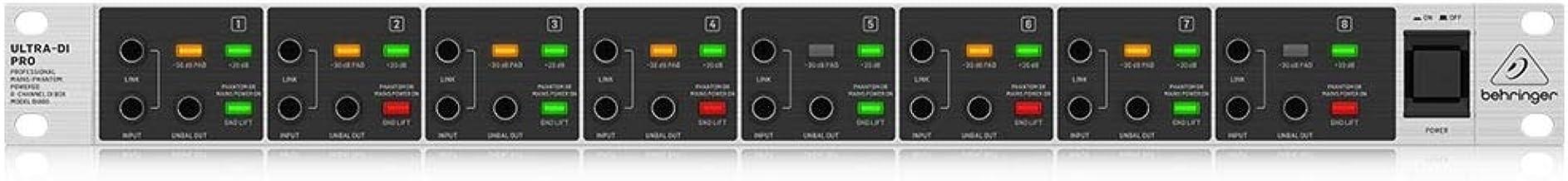 Behringer DI800 V2 Ultra-Di Pro Professional Mains/Phantom Powered 8-Channel DI-Box