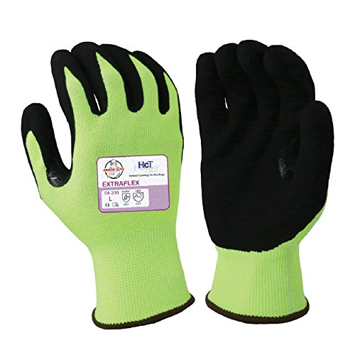Armor Guys 04-200 (M) 1 Extraflex, 15g, Engineered Yarn, Black HCT MicroFoam Nitrile Palm Coating (One Pair), M, Green/Black