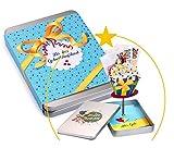 Geldgeschenke-Verpackung GEBURTSTAG; der Cupcake richtet sich beim Öffnen mit Ihrem Geschenk auf;...