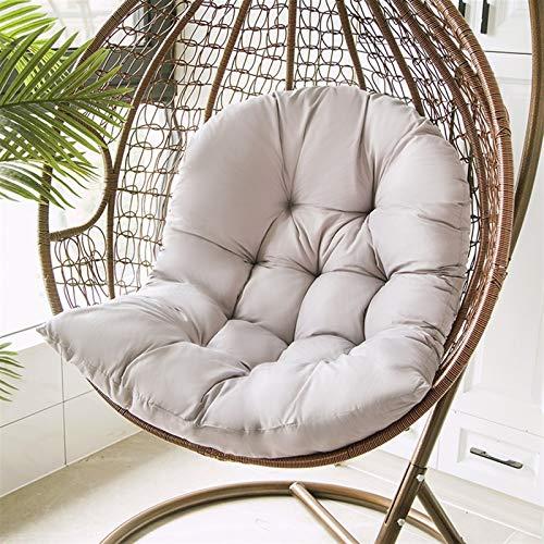 Mirui Columpio para silla colgante suave, lavable, grueso para colgar en interiores y exteriores, 80 x 120 cm (color: gris, 80 x 120 cm)