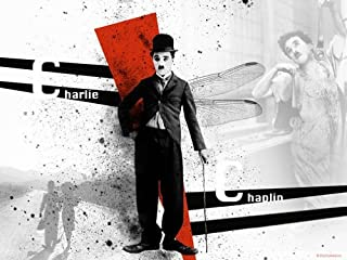 Color Photo Poster Little Tramp Charlie Chaplin