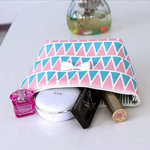 LXWLXDF- Bolsa de Maquillaje portátil Grande y fácil Bolsa de cosméticos a Prueba de Agua Bolsa de Almacenamiento de cosméticos Bolso for Mujer Uso de Viaje for niñas (4.72'* 2.76' * 5.12')