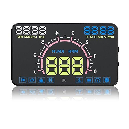 Auto Universal HUD Head Up Display VGEBY 5,8 Zoll OBDII EUOBD Schnittstelle Geschwindigkeit Warnung Alarmsystem