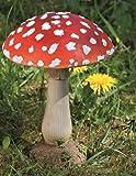 Fliegenpilz Deko Pilz Gartendeko Pilze Garten rot getupft 21 cm H 1812-2501000B