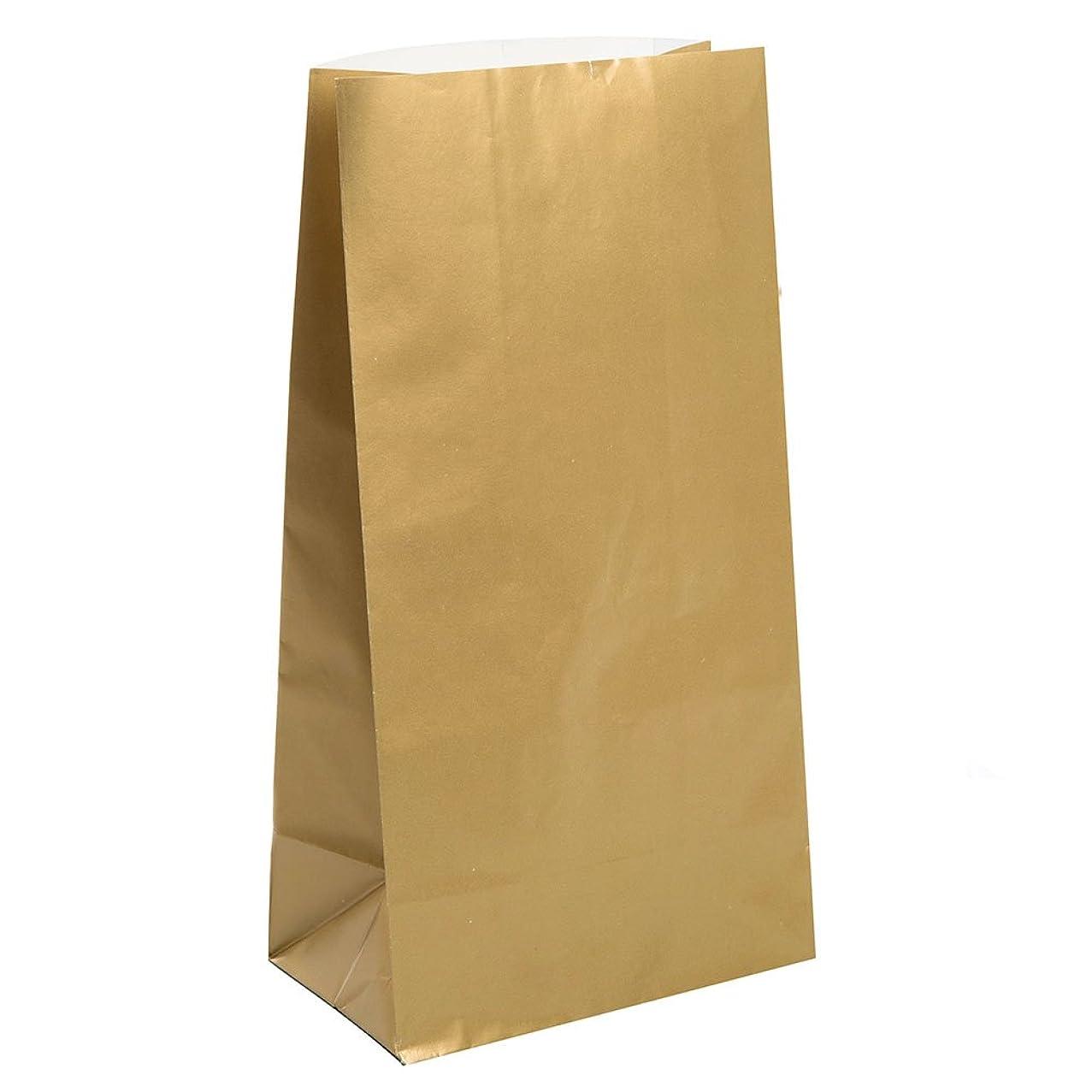 Metallic Gold Paper Favor Bags, 10ct