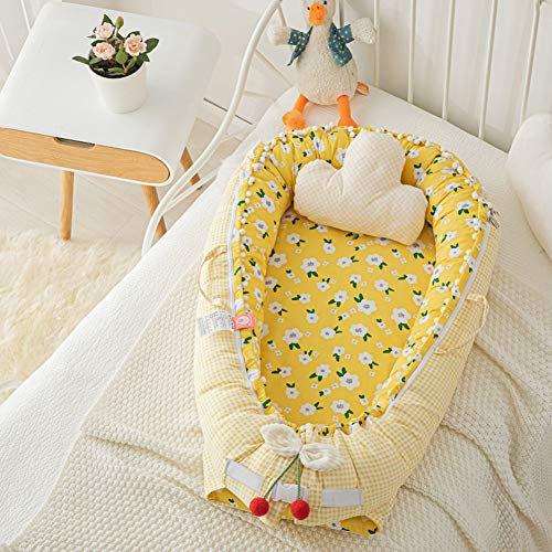 Check Out This Baby Nest Newborn Baby Lounger Soft Breathable Cotton for Newborn & Babies Sleeping P...