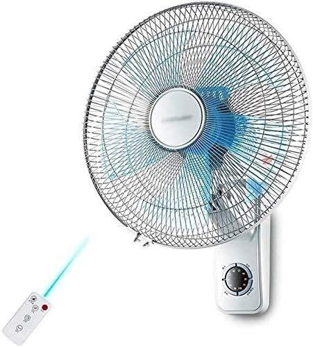 Ventilador de enfriamiento de ventilador de refrigeración de la pared oscilante interior, ventilador de oscilación con control remoto y sincronización 3 velocidad para la oficina de verano en la ofici