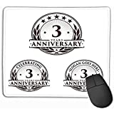 Emonye Mouse Pad Template Anniversary rd Logo Template Years Celebrating Charming Mousepad 25 * 30CM