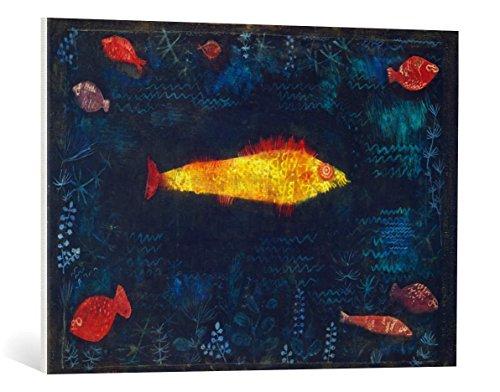 kunst für alle Leinwandbild: Paul Klee Der goldene Fisch - hochwertiger Druck, Leinwand auf Keilrahmen, Bild fertig zum Aufhängen, 85x60 cm