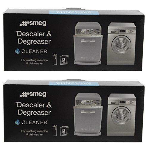 Smeg lavaggio macchina genuina Disincrostatore e sgrassante (24 x Bustine)