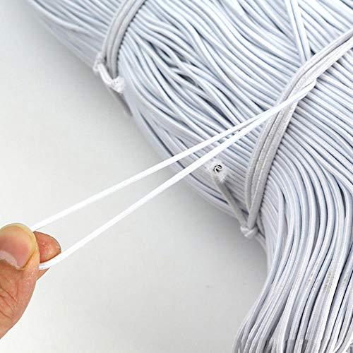 In de Groothandel 1 mm / 2 mm / 3 mm ringen dunne Piston ring bruiloft round elastisch koord elastiek wit/zwart voor kledingaccessoires DIY naaien,wit,1 mm