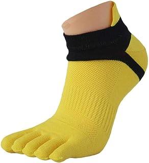 1 Par Calcetines de Deporte Para Hombre Malla Medias Sports Running Cinco Dedos Calcetín Del Dedo Del Pie