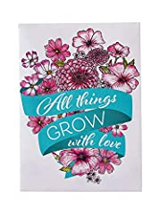 Pre-Filled Seed Packet ''All Things Grow with Love'' Party Favors for Guests (Pack of 20) - Wildflower Seed Mix, Plant Year-Round, Great Gift for Hostesses, Showers, Weddings, Thank You