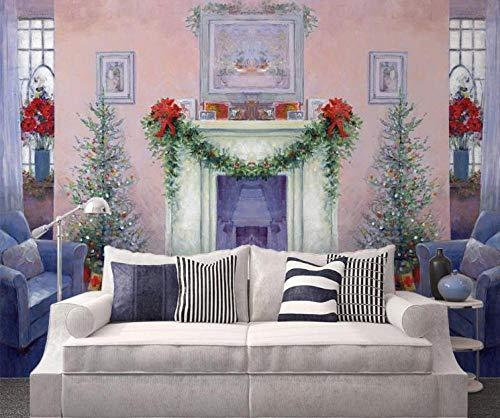 Wandplakat Landhausstil Bild Wohnzimmer Schlafzimmer Chinesisches Restaurant Hotel Bibliothek dekorative Wandaufkleber Tapete-400 * 280cm