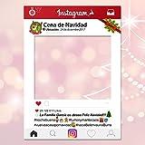 setecientosgramos Photocall Instagram Navidad Personalizado| 80x110 | Comidas de Empresa | Cenas Nochebuena | PhotoBooth Instagram (Cartón 4mm)