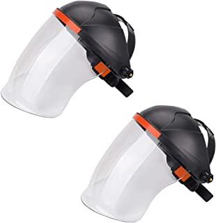 Ginode Anti-fog Adjustable Full Face Shield 2 Pack Anti-UV Welding Grinding Helmet Full..