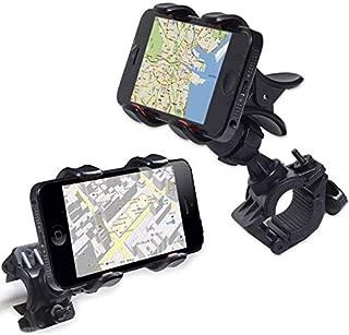 自転車 スマホ ホルダー USAMS オートバイ バイク スマートフォン振れ止め 脱落防止 携帯 固定用 マウント スタン 角度調整 脱着簡単 強力な保護 iPhone X XS 8 7 6 6S Plus/HUWEI Mate P20 P10 lite/Xperia多機種対応