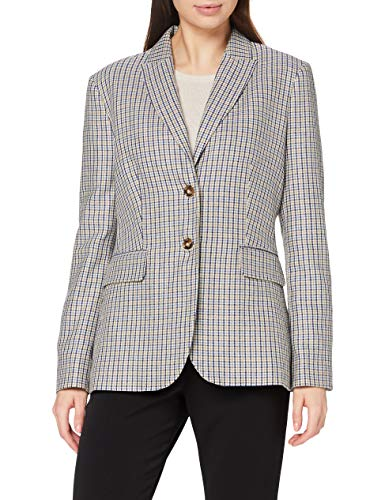 GANT Damen D2. Heritage Checked Blazer, Cream, 34