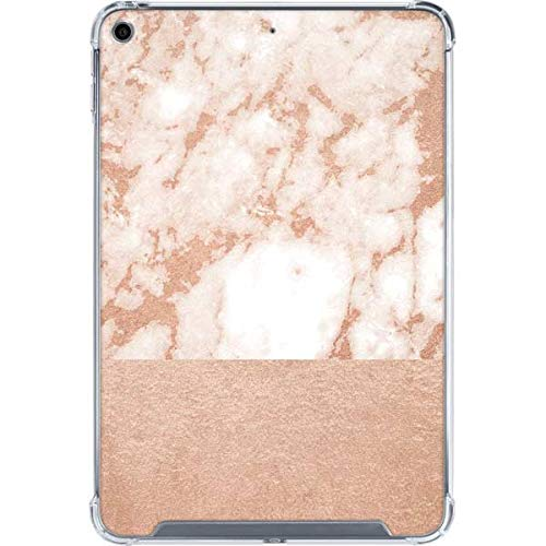 Skinit Clear Tablet Case for iPad Mini 5 (2019) Originally Designed White Rose Gold Marble Design